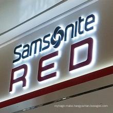 Front signage 3d letter light led backlit logo sign wall mounted outdoor advertising