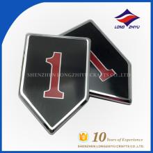 Placa de nombre de encargo de la buena calidad del esmalte de la aleación del cinc