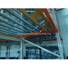 Warehouse Storage Picking System with Flow Gravity Roller Rack