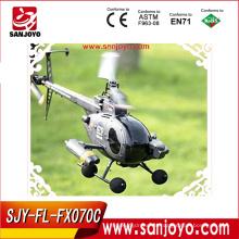 Gran 2.4v 4ch flybarless r / c helicóptero hobby FX070C rc helicóptero militar