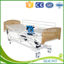 Steel mattress base wood board 3-function nursing electric bed