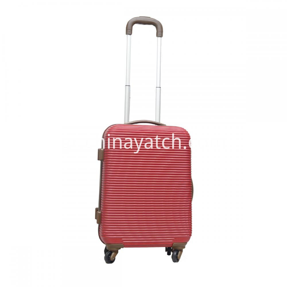 Red Abs Trolley Suitcase