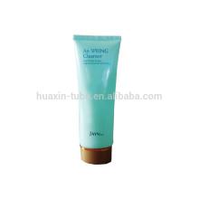 Empaquetado cosmético plástico limpiador de piel con tapón de rosca