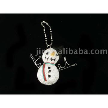 Chaîne de bonhomme de neige décoration porte-clés poupée vaudou