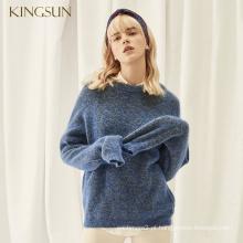 Womans New Fancy Style Mohair Wool Sweater Winter Pullover Design de moda