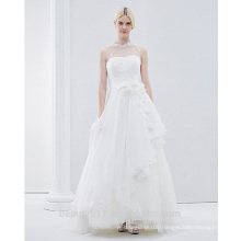 Hot sale elegant noble sleeveless wedding dress bridal wearing wedding gown TS198