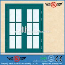 JK-SS9018 высококачественная дверь из нержавеющей стали с двойным стеклянным распашным стеклом