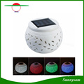 Solar Small Apple Shape Ceramics Decoration Light Colorful Decorative Solar Wedding Party Birthday Party Light