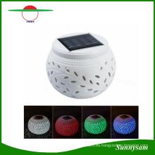 Luz solar de la decoración de la cerámica de la forma de la pequeña manzana verde Luz colorida decorativa de la fiesta de cumpleaños del partido de la boda solar