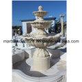 Fontaine d'eau de sculpture en pierre beige (SY- F002)