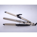 Proefessional Hair Iron Hair Straightener and Hair Curler 2 in 1 Multi-Functional