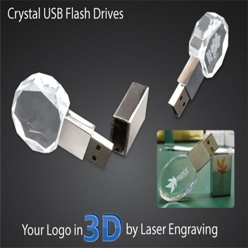 Custom Transparent Crystal Shiny Usb