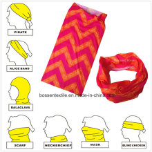 Seamless Style Custom Logo Impresso Microfibra Multifuncional Outdoor Sports Headband Bandanna Tubo