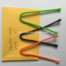 Silicone, 100% Matériaux en silicone en gros Attache câble en silicone