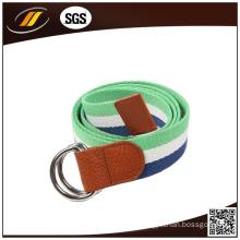 New Fashion Fabric Women Belt Canvas Waist Braided Belt with D-Ring