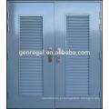 Porta de aço ISO9001 Glavanized com grelha de ventilação