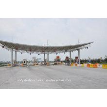 Профессиональный дизайн Высокопрочная стальная рама Toll Station Gate