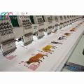 18 cabezas alta velocidad 1200 rpm plano cama máquina bordadora