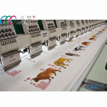 18 cabeças alta velocidade 1200 rpm máquina de bordado de cama plana comercial