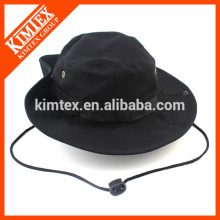 Männer schwarze umkehrbare Baumwoll-Eimer Hut mit Ihrem eigenen Logo