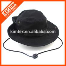 Hommes Noir Bonnet à godet en coton réversible avec votre propre logo