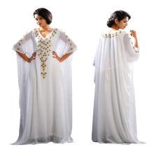 Großhandelsfrauen-muslimische Spitze-Chiffon- lange Hülse Maxi Abaya Kaftan