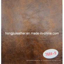 Couro decorativo do óleo ceroso da espessura de 1.2mm para a mobília