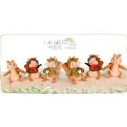 Miniature cute squirrel plush toys