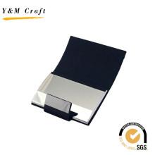 Metal de alta qualidade e titular do cartão de nome de couro para negócios
