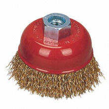 Crimped Wire Cup Brush with 75mm Diameter