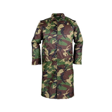 Yj-6025 Camouflage Long Rain Mac Coats Boys Raincoat