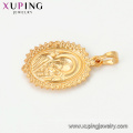 33699 xuping jewelry 24k gold plated Holy Mother round out-of-shape religious pendant