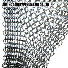 Silicone Stainless 316 Stainless Steel Chainmail Scrubber Xl 7x7 Inch