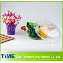 Boîtier rond en verre de borosilicate de nourriture élevée avec la couverture en verre