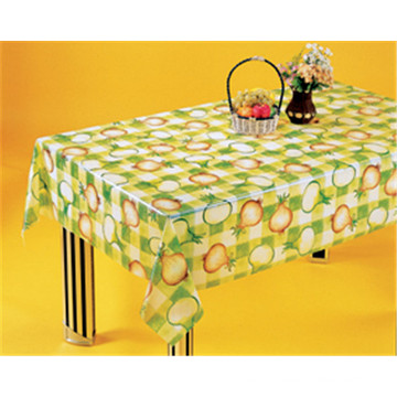 Cheap New Design Vinyl Table Cloth Plastic Transparent, PVC Clear Printed Tablecover