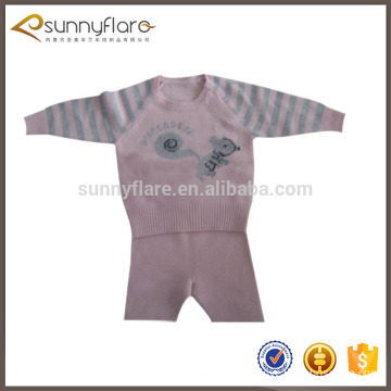 Lovely wool cashmere children sweater twin set