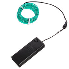 Flexível LED Neon Light Glow Corda de fio EL Tape Cable Strip Decoração + Controlador (9.6FT)