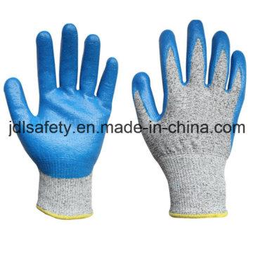 Gants de travail résistant à la coupure avec Nitrile (ND8032)