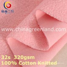 Tela feita malha algodão da escova do velo polar para o vestuário de matéria têxtil (GLLML394)