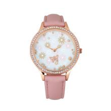 Hot sale Reloj 3D dial customized design jewellery case unique lady watch