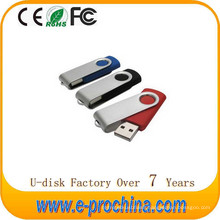 Hot Sale USB Flash Drive Flash Memory Metal Swivel USB Pen Drive for Free Sample