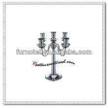 T202 H315mm acero inoxidable 5 cabezas candelabro