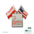 2016 novo emblema personalizado de metal de impressão para vendas