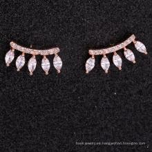 accesorios de lujo para mujer pendientes con circonita 925 para niñas
