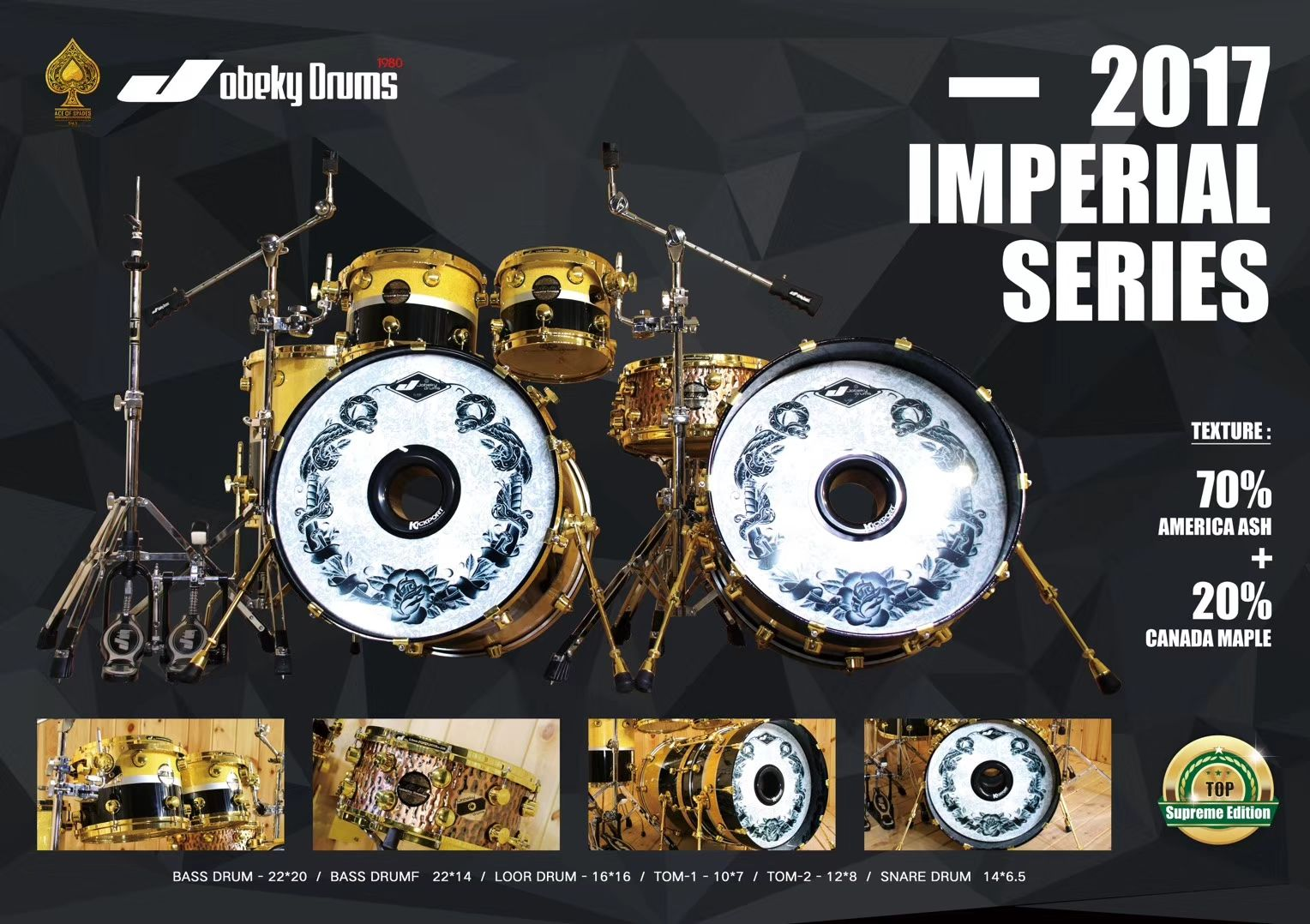Good Quality Lacquer Drum Set