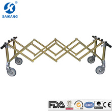 SKB-7C002 Hospital Furniture Aluminum Casket Compact Church Trolley