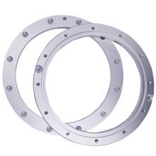 Часть CNC подвергая механической обработке алюминиевого фланца
