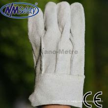 Gants en cuir doublés de fourrure naturelle NMSAFETY