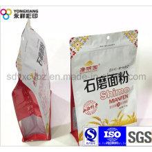 Dimensional empaquetado de plástico bolsa de harina