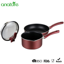 Aluminum High Quality Rose Red Cookware Set